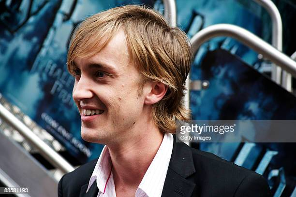 Tom Felton attends the launch of the 'Harry Potter and the HalfBlood Prince' magical tour held in Leicester Square on June 19 2009 in London England