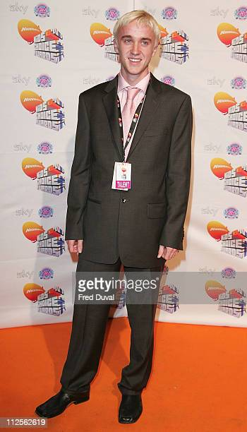 Tom Felton attends the Nickelodeon Kids' Choice Awards on October 20 2007 in London England