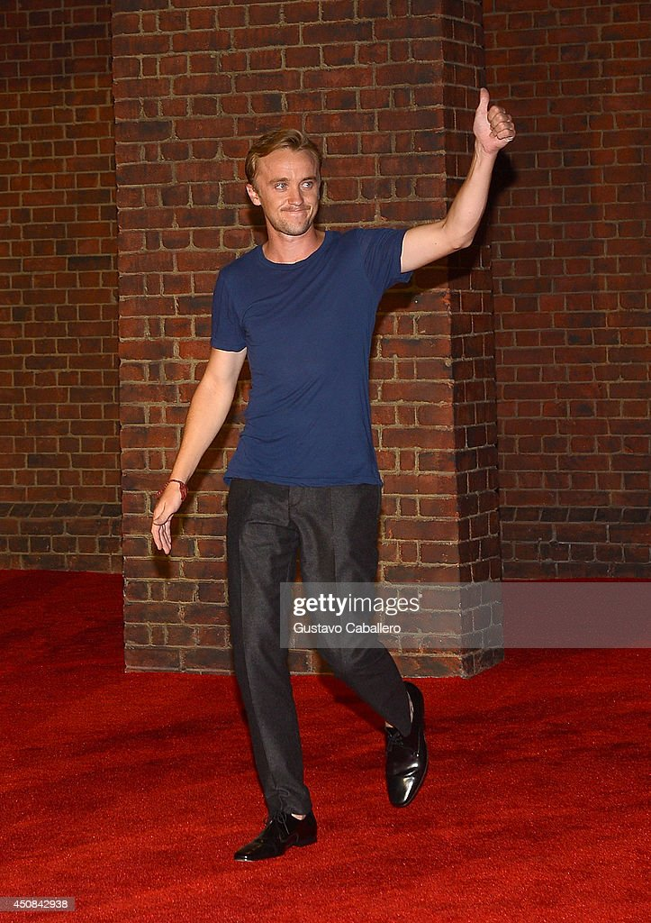<a gi-track='captionPersonalityLinkClicked' href=/galleries/search?phrase=Tom+Felton&family=editorial&specificpeople=2166394 ng-click='$event.stopPropagation()'>Tom Felton</a> attends The Wizarding World of Harry Potter Diagon Alley Grand Opening at Universal Orlando on June 18, 2014 in Orlando, Florida.