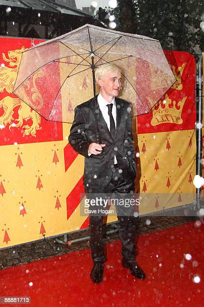 Tom Felton attends the world premiere of 'Harry Potter and the Half Blood Prince' held at the Odeon Leicester Square on July 7 2009 in London England