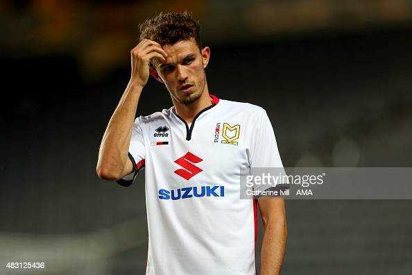 Tom Flanagan of MK Dons during the preseason friendly between MK Dons and a Chelsea XI at Stadium mk on August 3 2015 in Milton Keynes England