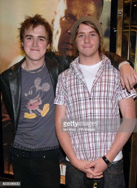 Tom Fletcher and Danny Jones from McFly arrive for the UK Premiere of Die Hard 40 at The Empire Cinema in Leicester Square central London