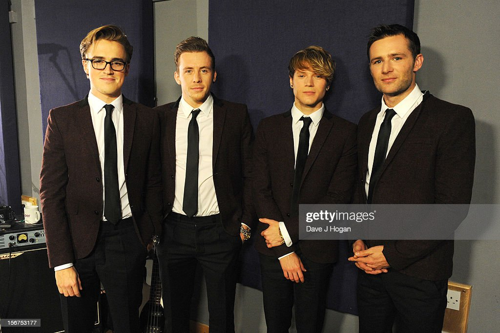Tom Fletcher Danny Jones Dougie Poynter and Harry Judd of McFly perform for a Biz Session on November 6 2012 in London England