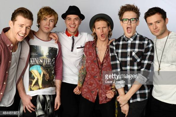Tom Fletcher Danny Jones Dougie Poynter Harry Judd James Bourne and Matt Willis of McBusted pose for portraits to announce their date at Barclaycard...