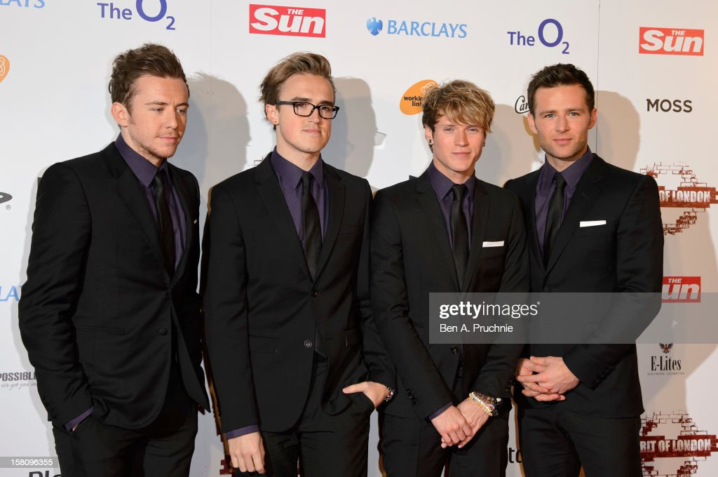 <a gi-track='captionPersonalityLinkClicked' href=/galleries/search?phrase=Tom+Fletcher&family=editorial&specificpeople=213300 ng-click='$event.stopPropagation()'>Tom Fletcher</a>; <a gi-track='captionPersonalityLinkClicked' href=/galleries/search?phrase=Danny+Jones+-+Musician&family=editorial&specificpeople=206498 ng-click='$event.stopPropagation()'>Danny Jones</a>; <a gi-track='captionPersonalityLinkClicked' href=/galleries/search?phrase=Dougie+Poynter&family=editorial&specificpeople=214057 ng-click='$event.stopPropagation()'>Dougie Poynter</a>; <a gi-track='captionPersonalityLinkClicked' href=/galleries/search?phrase=Harry+Judd&family=editorial&specificpeople=207089 ng-click='$event.stopPropagation()'>Harry Judd</a> of McFly attend the Spirit of London Awards at the O2 Arena on December 10, 2012 in London, England.