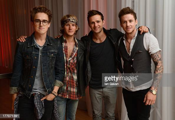 Tom Fletcher Dougie Poynter Harry Judd and Danny Jones of McFly attend the 'One Direction This Is Us' world premiere after party on August 20 2013 in...