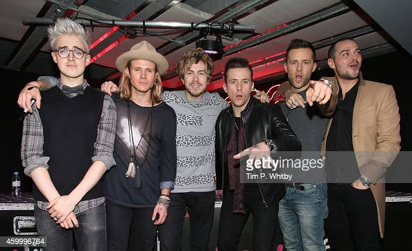 Tom Fletcher Dougie Poynter James Bourne Danny Jones Harry Judd and Matt Willis of McBusted meet fans and signs copies of their new self titled album...