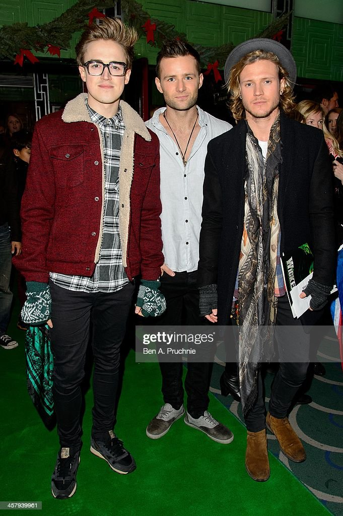 <a gi-track='captionPersonalityLinkClicked' href=/galleries/search?phrase=Tom+Fletcher&family=editorial&specificpeople=213300 ng-click='$event.stopPropagation()'>Tom Fletcher</a>, <a gi-track='captionPersonalityLinkClicked' href=/galleries/search?phrase=Harry+Judd&family=editorial&specificpeople=207089 ng-click='$event.stopPropagation()'>Harry Judd</a> and <a gi-track='captionPersonalityLinkClicked' href=/galleries/search?phrase=Dougie+Poynter&family=editorial&specificpeople=214057 ng-click='$event.stopPropagation()'>Dougie Poynter</a> attends the press night for 'Wicked' at Apollo Victoria Theatre on December 19, 2013 in London, England.