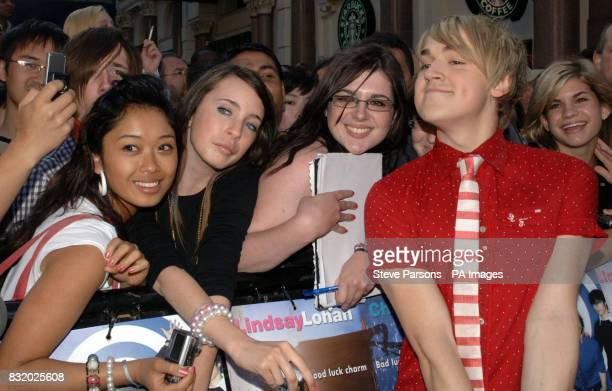 Tom Fletcher of McFly arrives at the UK Premiere of Just My Luck at the Vue West End central London