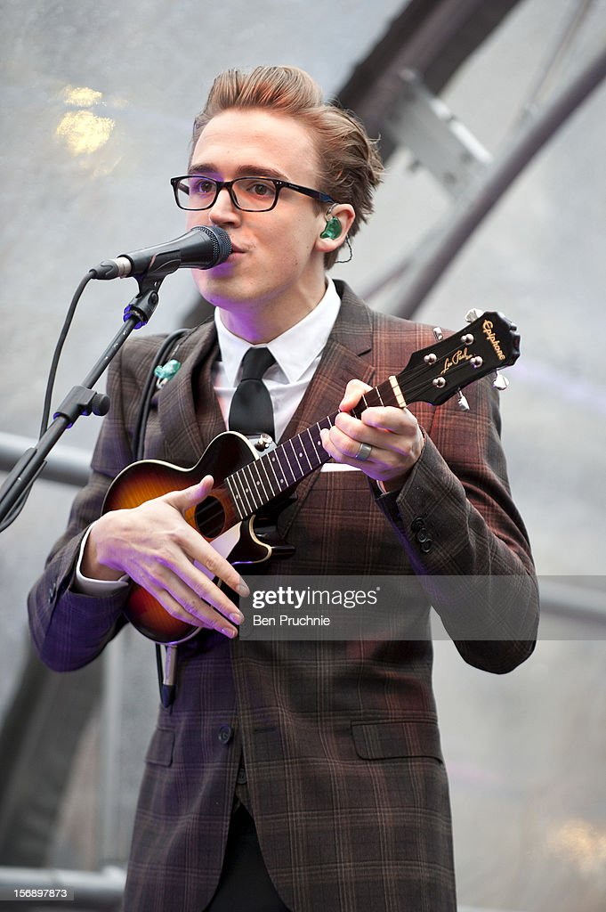 Tom Fletcher of Mcfly performs during the American Express Shop West end VIP Day on November 24, 2012 in London, England.