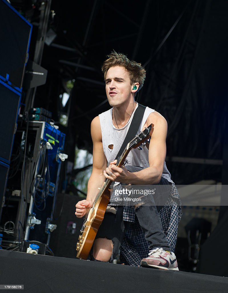 Tom Fletcher of McFly performs on stage on Day 1 of Fusion Festival 2013 at Cofton Park on August 31, 2013 in Birmingham, England.