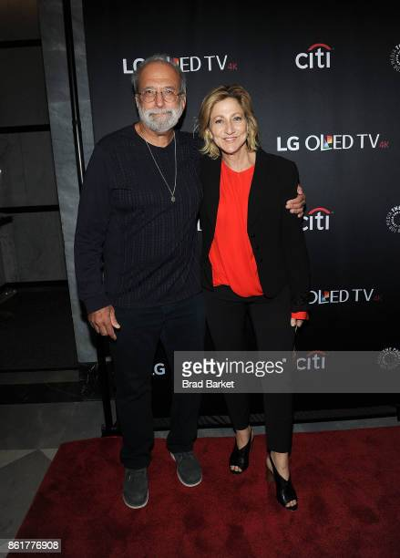 Tom Fontana and Edie Falco attend the 2017 PaleyFest NY 'Oz' Reunion at The Paley Center for Media on October 15 2017 in New York City