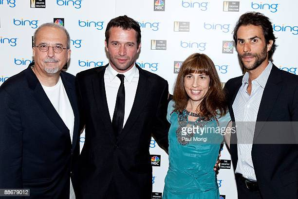 Tom Fontana James Purefoy Robin Bronk and Ben Silverman arrive at the premiere of NBC's 'The Philanthropist' hosted by The Creative Coalition at the...