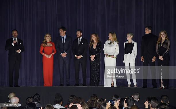 Tom Ford Amy Adams Michael Shannon Aaron TaylorJohnson Isla FisherLaura Linney Andrea Riseborough Karl Glusman and Ellie Bamber attend the New York...