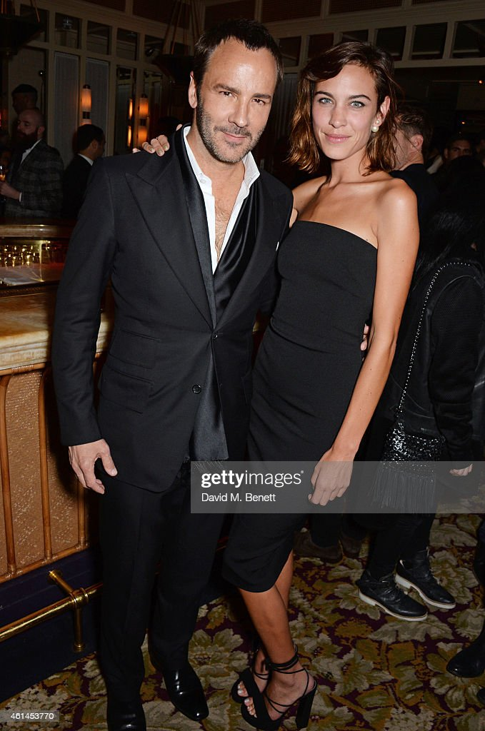 Tom Ford and Alexa Chung attend the launch of Tom Ford's new fragrance 'Noir Extreme' at The Chiltern Firehouse on January 12 2015 in London England