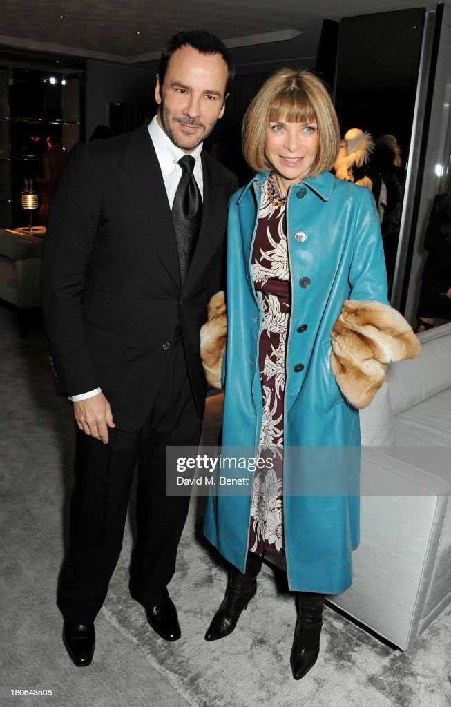 Tom Ford (L) and <a gi-track='captionPersonalityLinkClicked' href=/galleries/search?phrase=Anna+Wintour&family=editorial&specificpeople=202210 ng-click='$event.stopPropagation()'>Anna Wintour</a> attend the launch of the new Tom Ford London flagship store on Sloane Street on September 15, 2013 in London, England.
