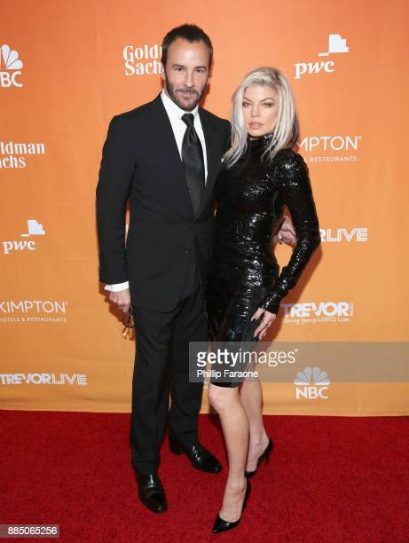 Tom Ford and Fergie attend The Trevor Project's 2017 TrevorLIVE LA Gala at The Beverly Hilton Hotel on December 3 2017 in Beverly Hills California