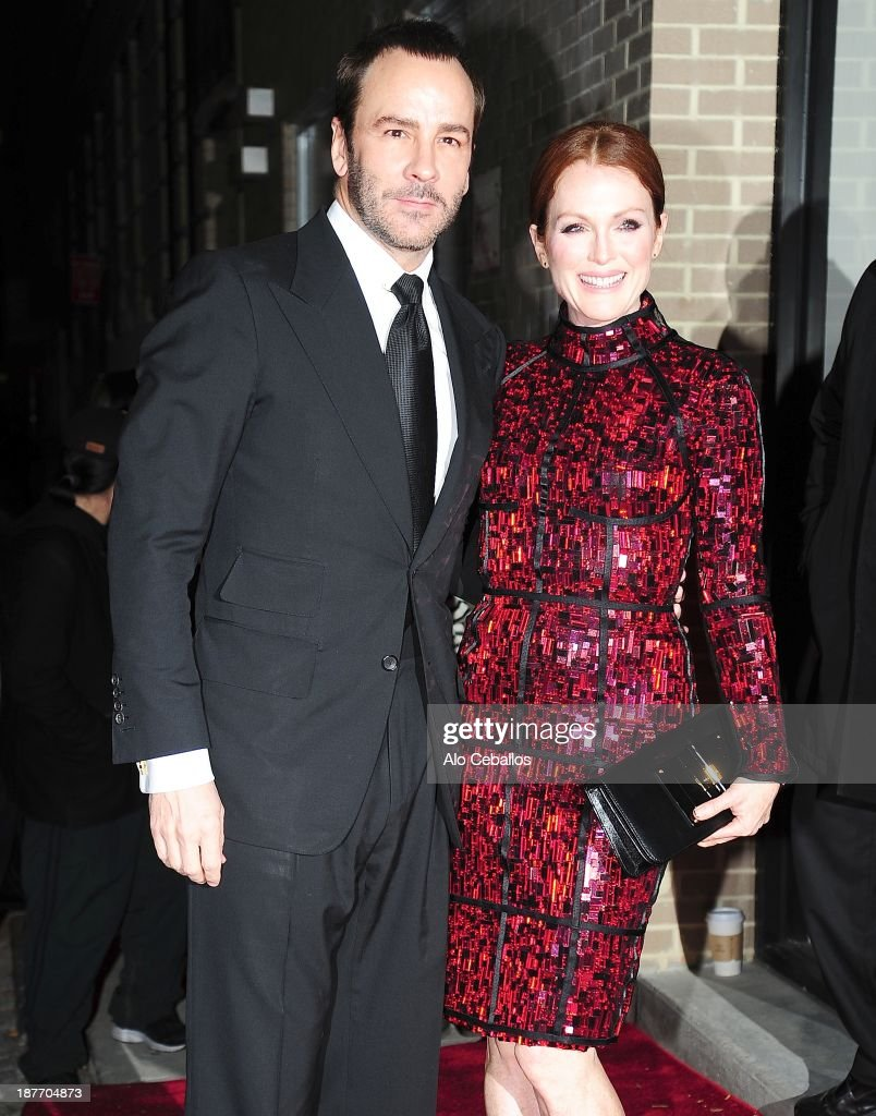 <a gi-track='captionPersonalityLinkClicked' href=/galleries/search?phrase=Tom+Ford+-+Fashion+Designer&family=editorial&specificpeople=4280099 ng-click='$event.stopPropagation()'>Tom Ford</a> and <a gi-track='captionPersonalityLinkClicked' href=/galleries/search?phrase=Julianne+Moore&family=editorial&specificpeople=171555 ng-click='$event.stopPropagation()'>Julianne Moore</a> are seen arriving at CFDA awards on November 11, 2013 in New York City.