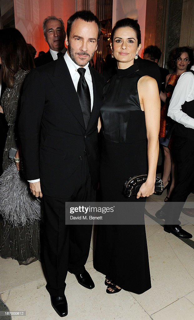Tom Ford (L) and Livia Firth arrive at the Harper's Bazaar Women of the Year awards at Claridge's Hotel on November 5, 2013 in London, England.