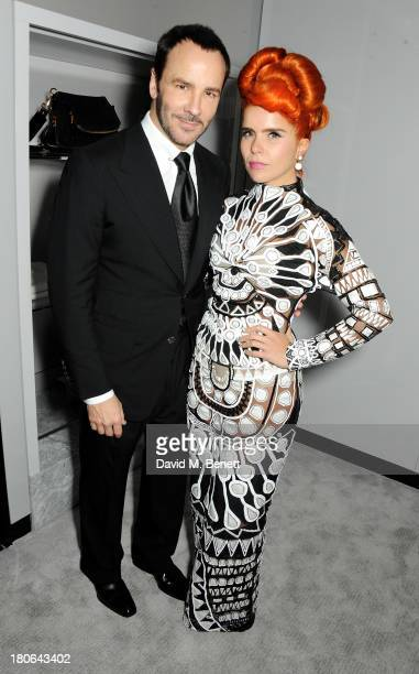 Tom Ford and Paloma Faith attend the launch of the new Tom Ford London flagship store on Sloane Street on September 15 2013 in London England