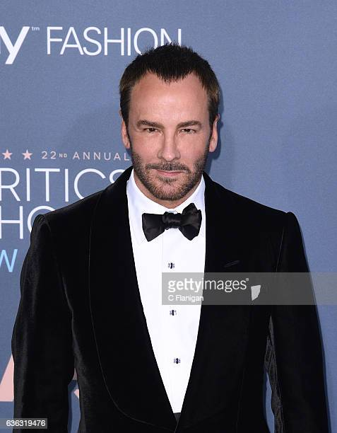 Tom Ford arrives at The 22nd Annual Critics' Choice Awards at Barker Hangar on December 11 2016 in Santa Monica California
