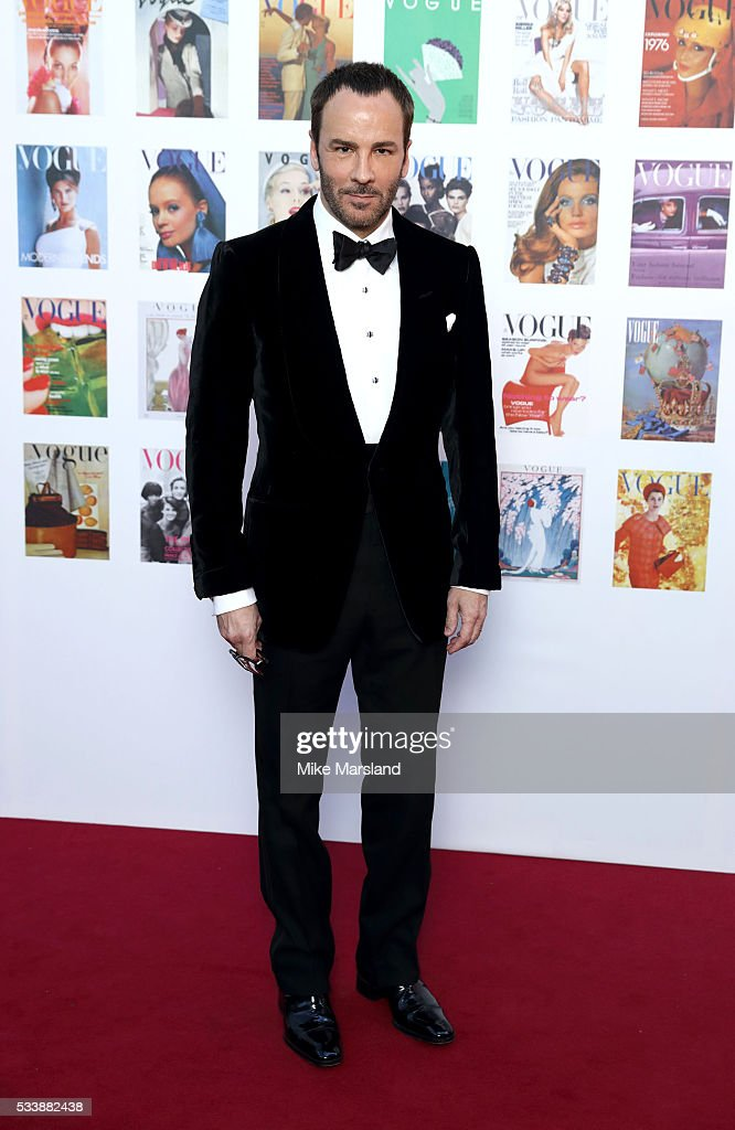 Tom Ford arrives for the Gala to celebrate the Vogue 100 Festival Kensington Gardens on May 23 2016 in London England