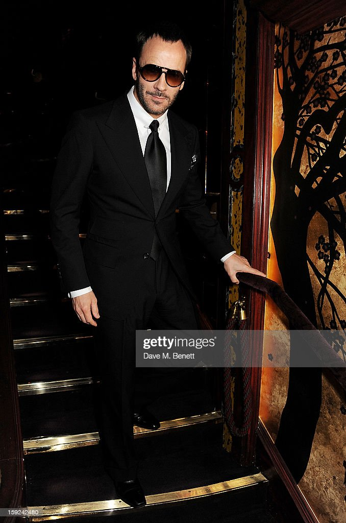 Tom Ford attends a private dinner hosted by Tom Ford to celebrate his runway show during London Collections: MEN AW13 at Loulou's on January 9, 2013 in London, England.