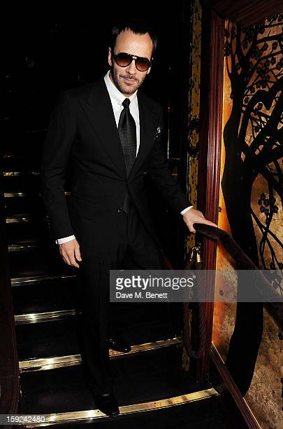 Tom Ford attends a private dinner hosted by Tom Ford to celebrate his runway show during London Collections MEN AW13 at Loulou's on January 9 2013 in...