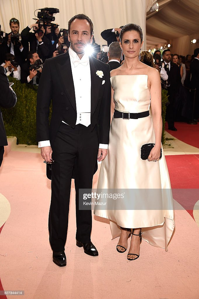 Tom Ford (L) attends 'Manus x Machina: Fashion In An Age Of Technology' Costume Institute Gala at Metropolitan Museum of Art on May 2, 2016 in New York City.