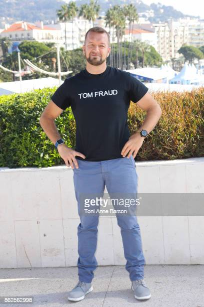 Tom Ford attends photocall for 'Top Gear America' as part of MIPCOM 2017 at the Palais des Festivals on October 17 2017 in Cannes France
