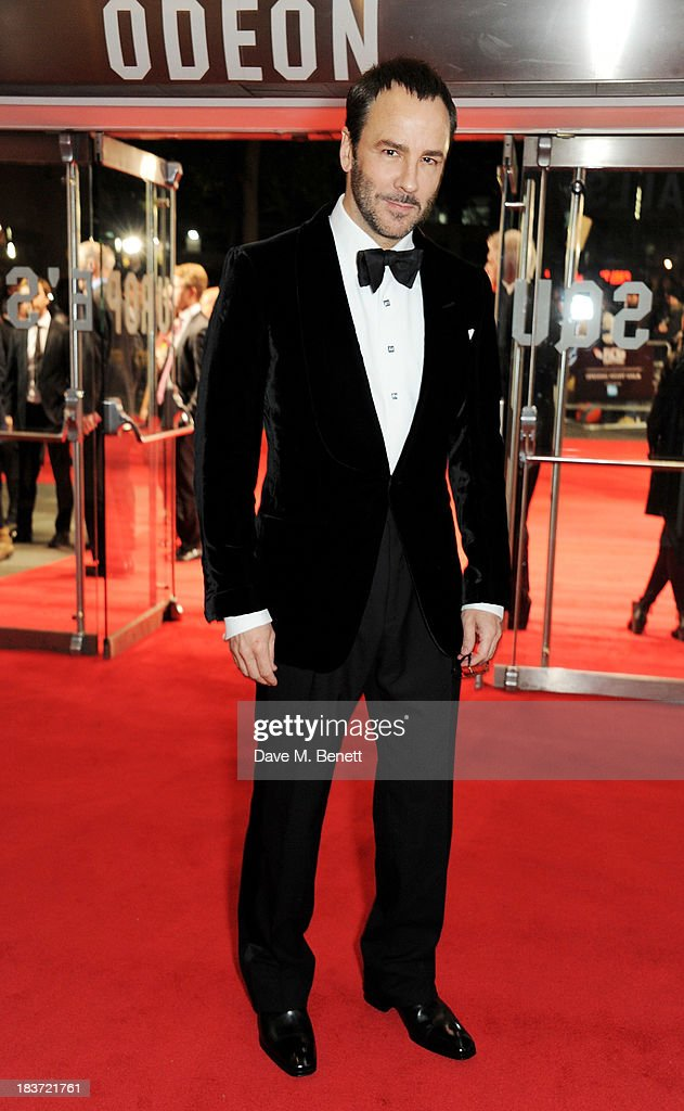 Tom Ford attends the European Premiere of 'Captain Phillips' on the opening night of the 57th BFI London Film Festival at Odeon Leicester Square on October 9, 2013 in London, England.