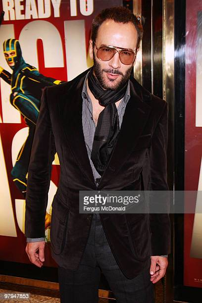 Tom Ford attends the European premiere of Kick Ass held at the Empire Leicester Square on March 22 2010 in London England