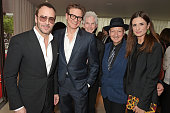 Tom Ford Colin Firth Richard Buckley Stephen Jones and Exeuctive Producer Livia Firth attend the London premiere of 'The True Cost' at the Curzon...