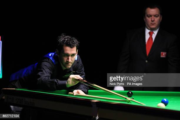 Tom Ford during his 62 defeat to Noppon Saengkham during day one of the williamhillcom UK Championships at The Barbican Centre York