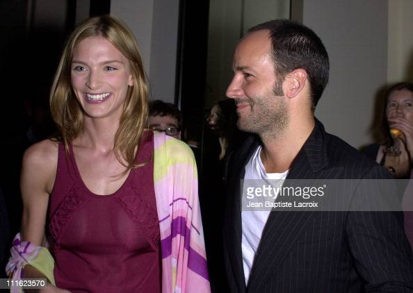Tom Ford Sarah Marshall during 'Gucci Launch Party' in Paris with Tom Ford at Gucci Store ChampsElysees in Paris France