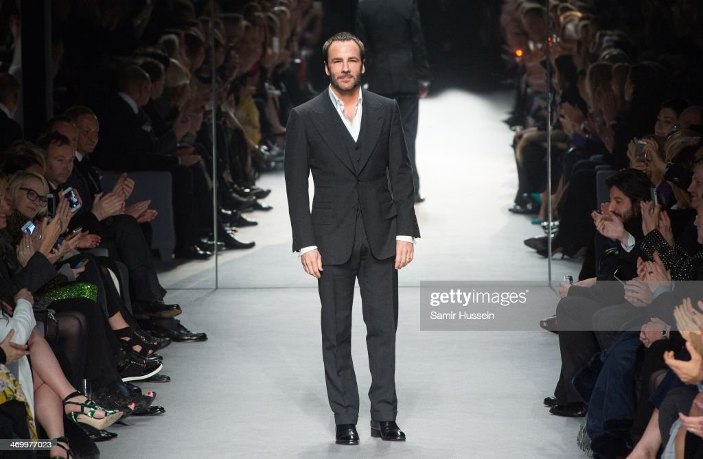 Tom Ford walks the runway at the TOM FORD show at The Lindley Hall during London Fashion Week AW14 on February 17, 2014 in London, England.