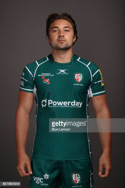 Tom Fowlie of London Irish poses for a portrait during the London Irish squad photo call for the 20172018 Aviva Premiership Rugby season on August 14...