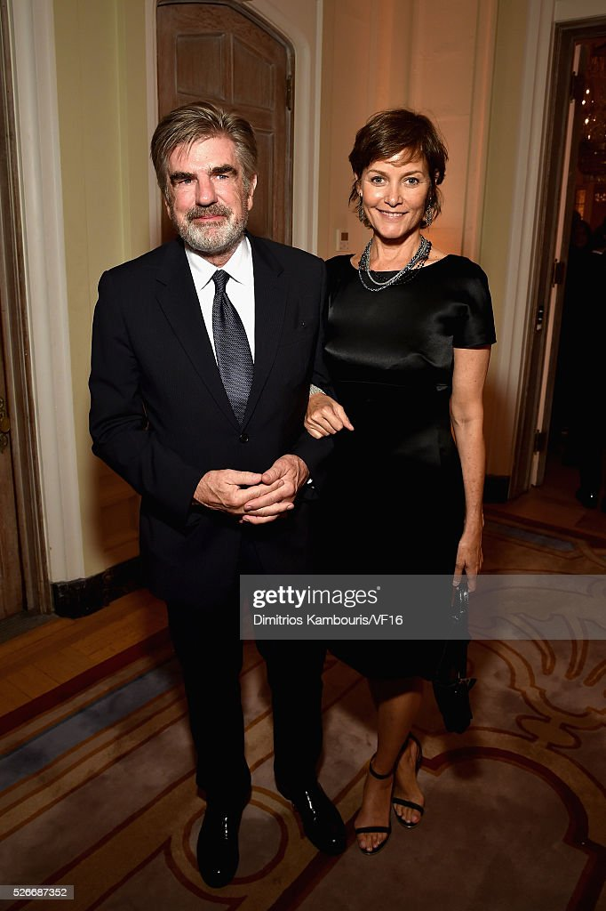 Tom Freston and Carey Lowell attend the Bloomberg & Vanity Fair cocktail reception following the 2015 WHCA Dinner at the residence of the French Ambassador on April 30, 2016 in Washington, DC.