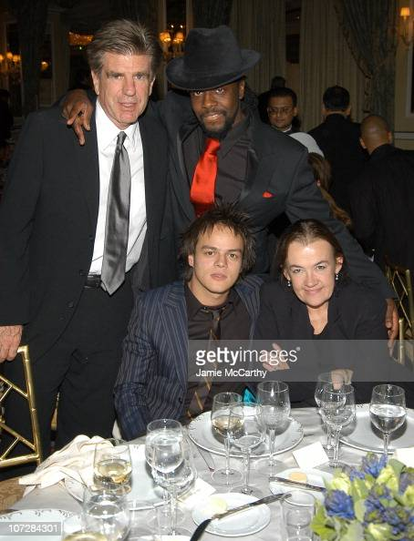 Tom Freston Jamie Cullum Wyclef Jean and Judy McGrath at amfAR's New York Gala to Honor Patti LaBelle Sumner Redstone and Peter Dolan