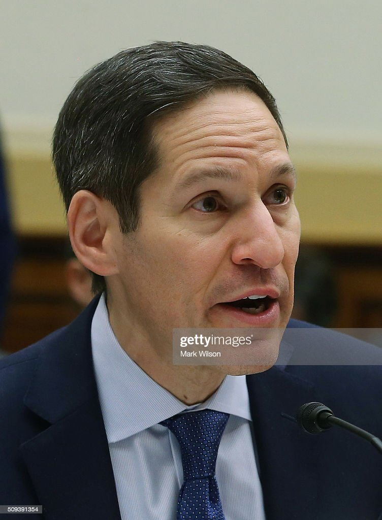 Tom Frieden, director of the Centers for Disease Control and Prevention, testifies during a House Foreign Affairs Committee hearing on Capitol Hill, February 10, 2016 in Washington, DC. The committee heard testimony from health officials on the Zika virus epidemic, and its threat to the Americas.
