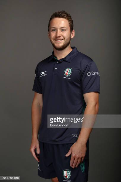 Tom Gallagher of London Irish poses for a portrait during the London Irish squad photo call for the 20172018 Aviva Premiership Rugby season on August...