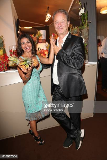 Tom Gerhardt and his wife Nadja da Silva during the media night of the CHIO 2017 on July 18 2017 in Aachen Germany
