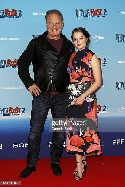 Tom Gerhardt and Jella Haase attend the Ritter Rost 2 Das Schrottkomplott Premiere at Mathaeser Filmpalast on January 15 2017 in Munich Germany