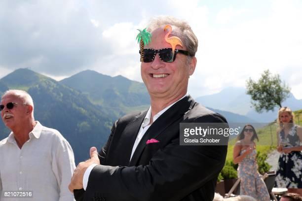 Tom Gerhardt during the wedding of Torsten Koch and Annika Hofmann at Wiesergut Alm on July 22 2017 in SaalbachHinterglemm Austria