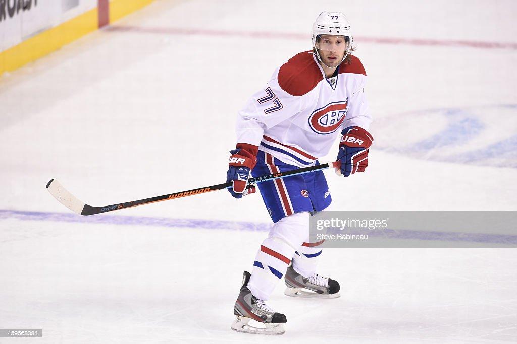 Tom Gilbert of the Boston Bruins skates against the Montreal Canadiens at the TD Garden on November 22 2014 in Boston Massachusetts