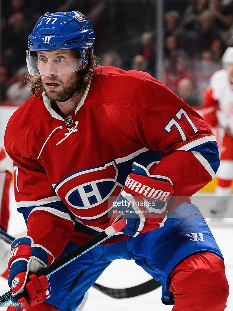 Tom Gilbert of the Montreal Canadiens plays in the game against the Detroit Red Wings at Bell Centre on October 17 2015 in Montreal Quebec Canada