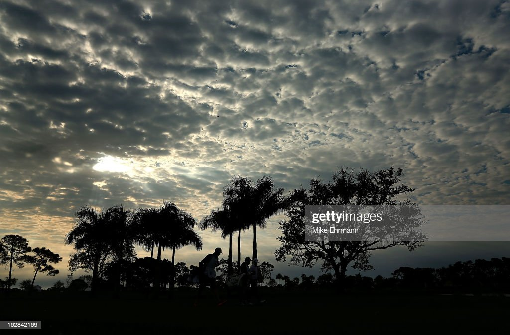 Tom Gillis walks up the first hole during the first round of the Honda Classic at PGA National Resort and Spa on February 28, 2013 in Palm Beach Gardens, Florida.
