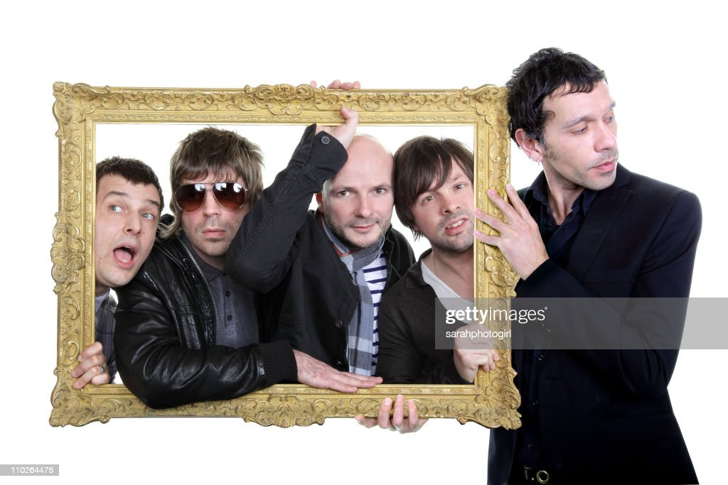 COVERAGE*** Tom Gladwin Paul Banks Joe Johnson Alan Leach and Rick Witter of Shed Seven pose for exclusive photo session on March 17 2011 in York...