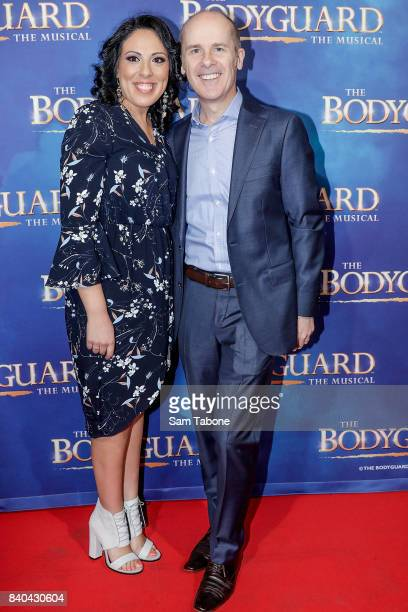 Tom Gleisner and Friend during a production media call for The Bodyguard at Regent Theatre on August 29 2017 in Melbourne Australia