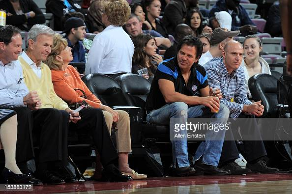 Tom Gores the Detroit Pistons owner is seen during the game between the Detroit Pistons of the Toronto Raptors on October 10 2012 at The Palace of...